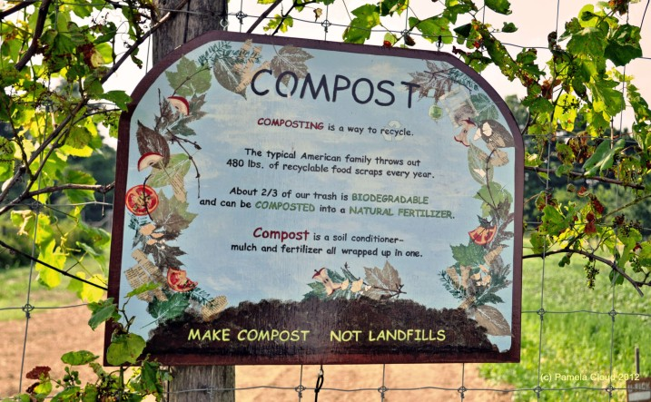 Compost Sign at Hillside Farm