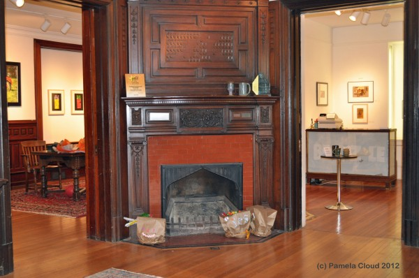 Community Arts Center - Lobby & Fireplace