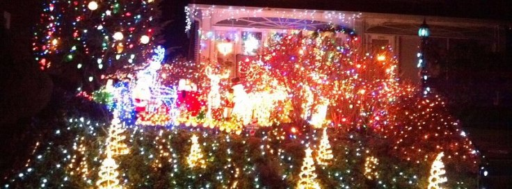 Christmas Lights in Media, Pa.