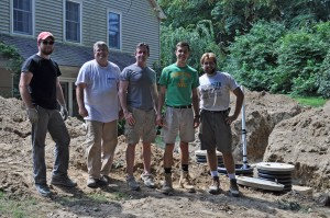 Joe Walls and team in front of completed job awaiting final inspection by the township inspector.